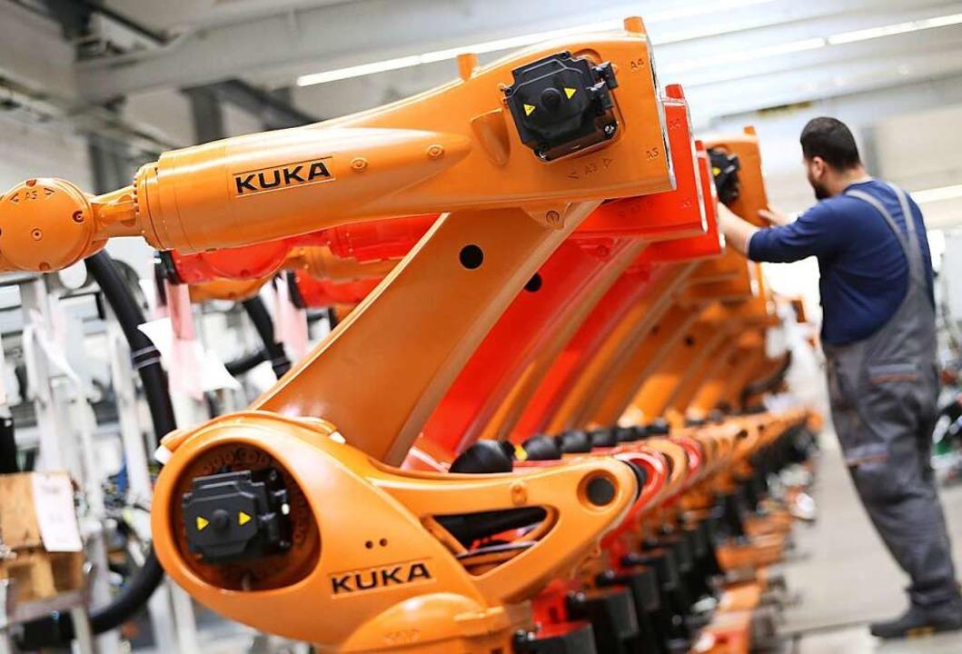 Herstellung von Kuka-Robotern  | Foto: dpa