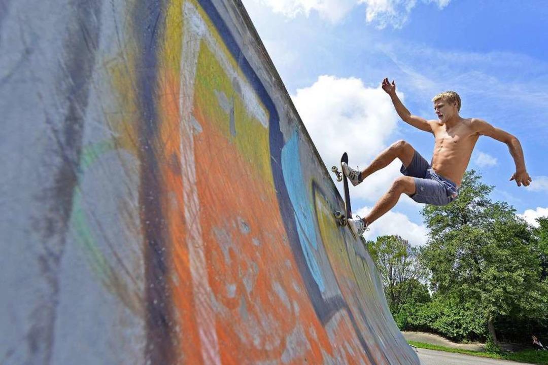 Die Skateanlage im Dietenbachpark wird... war an ihrer Planung aktiv beteiligt.  | Foto: Michael Bamberger