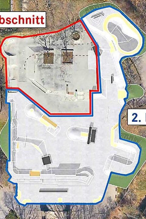 Der Skatepark im Dietenbachpark. Bishe...kommenden Jahr 3000 Quadratmeter groß.  | Foto: buchmch