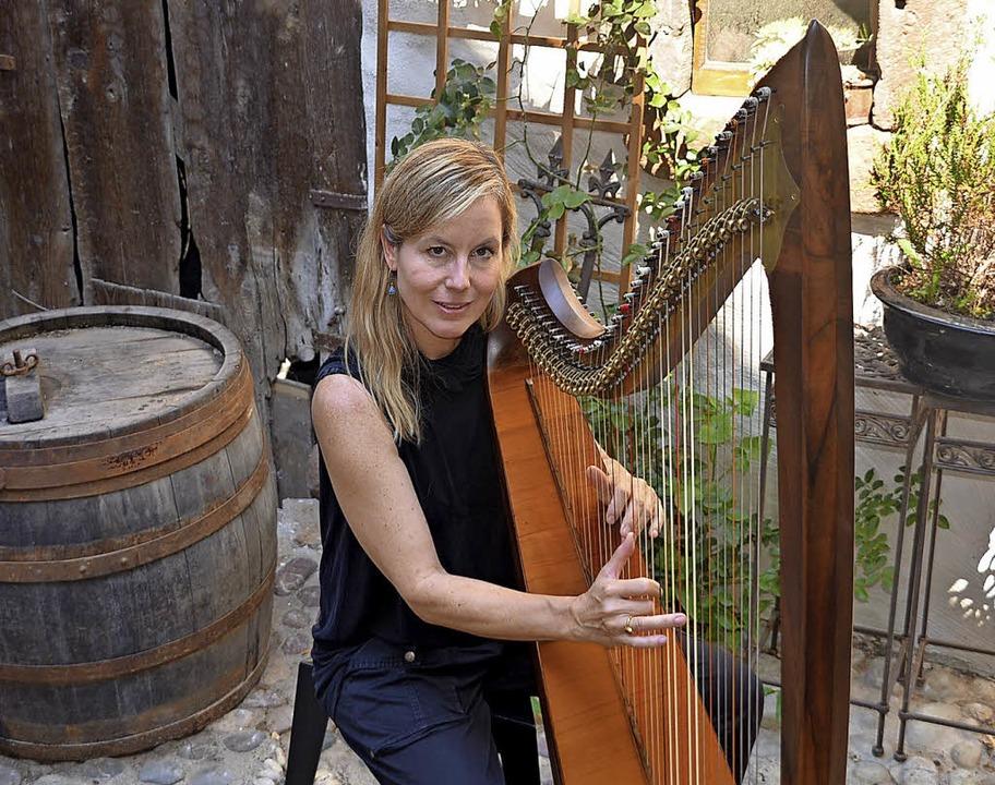 Ein Ort, an dem Sann Liedtke gern Harf...hres Wohnhauses mitten in Herbolzheim.    Foto: Jörg Schimanski