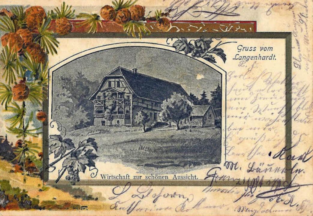 Gasthaus zur  schönen Aussicht  1903    Foto: Manfred Eble