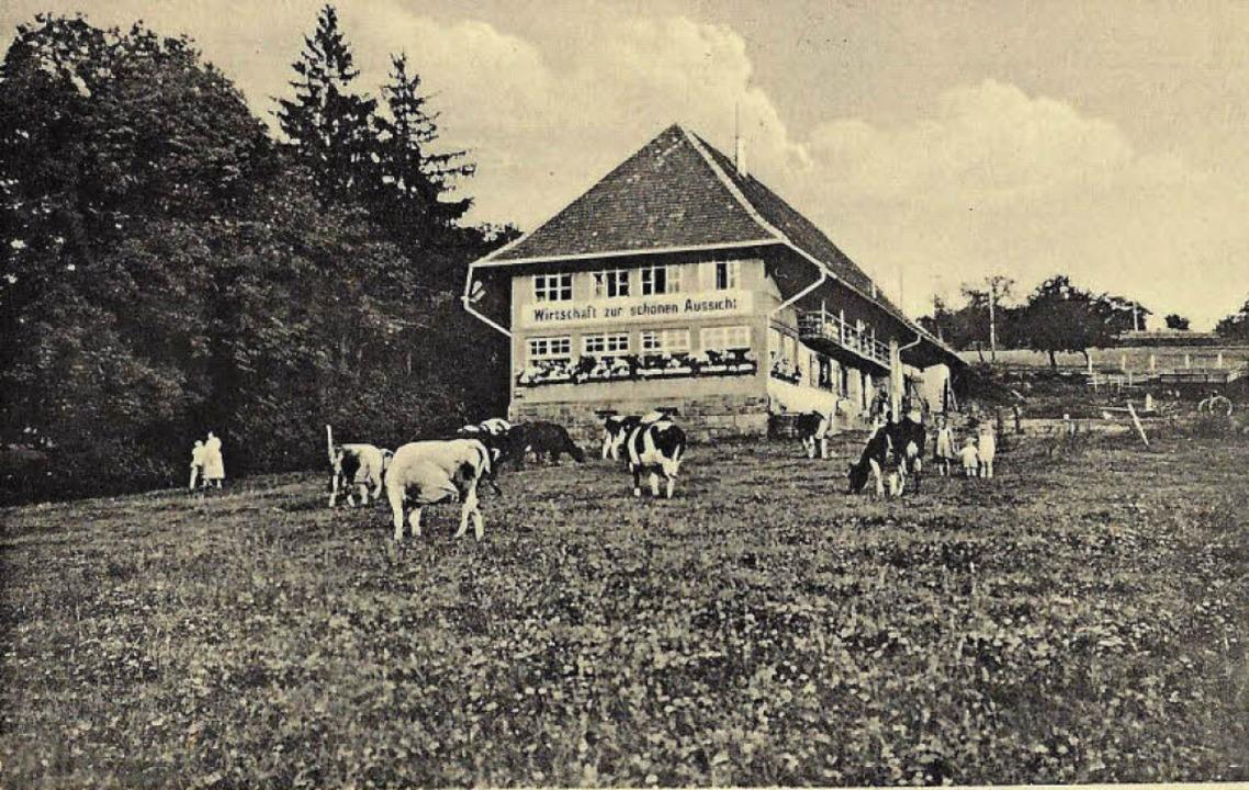 Gasthaus zur  schönen Aussicht 1941    Foto: Manfred Eble