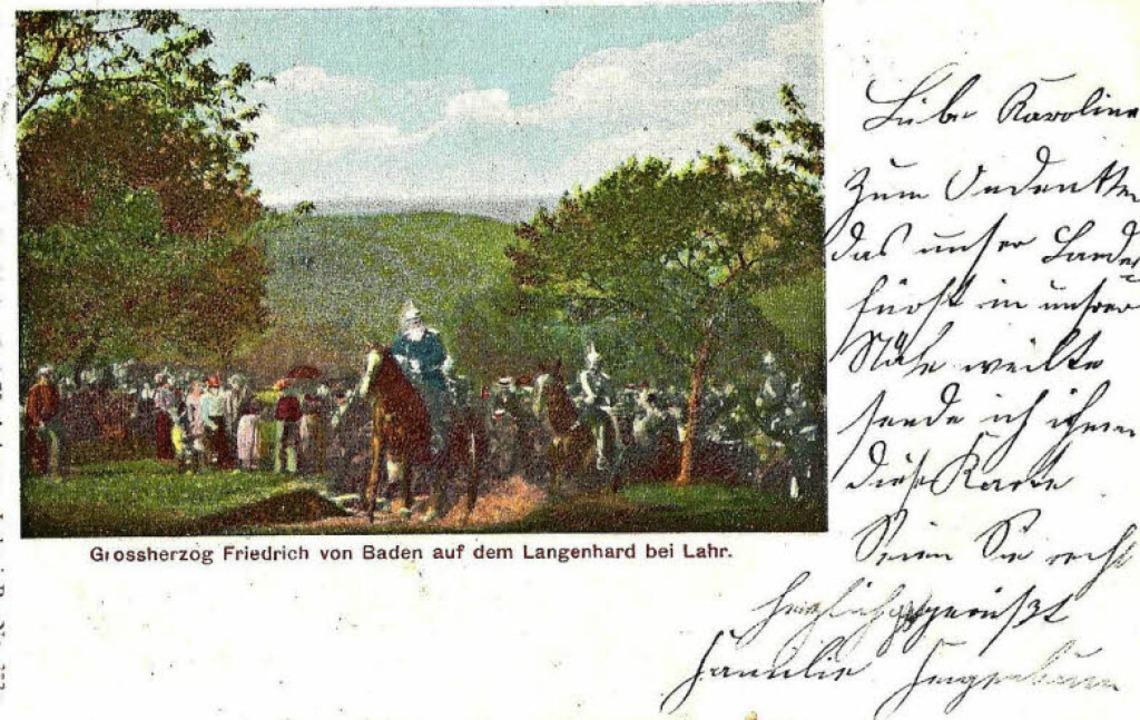 Besuch des Großherzogs 1900    Foto: Manfred Eble