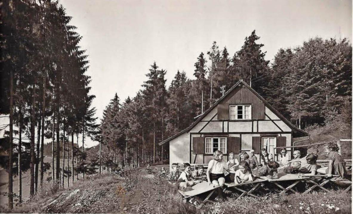Kindererholungsheim 1952    Foto: Manfred Eble