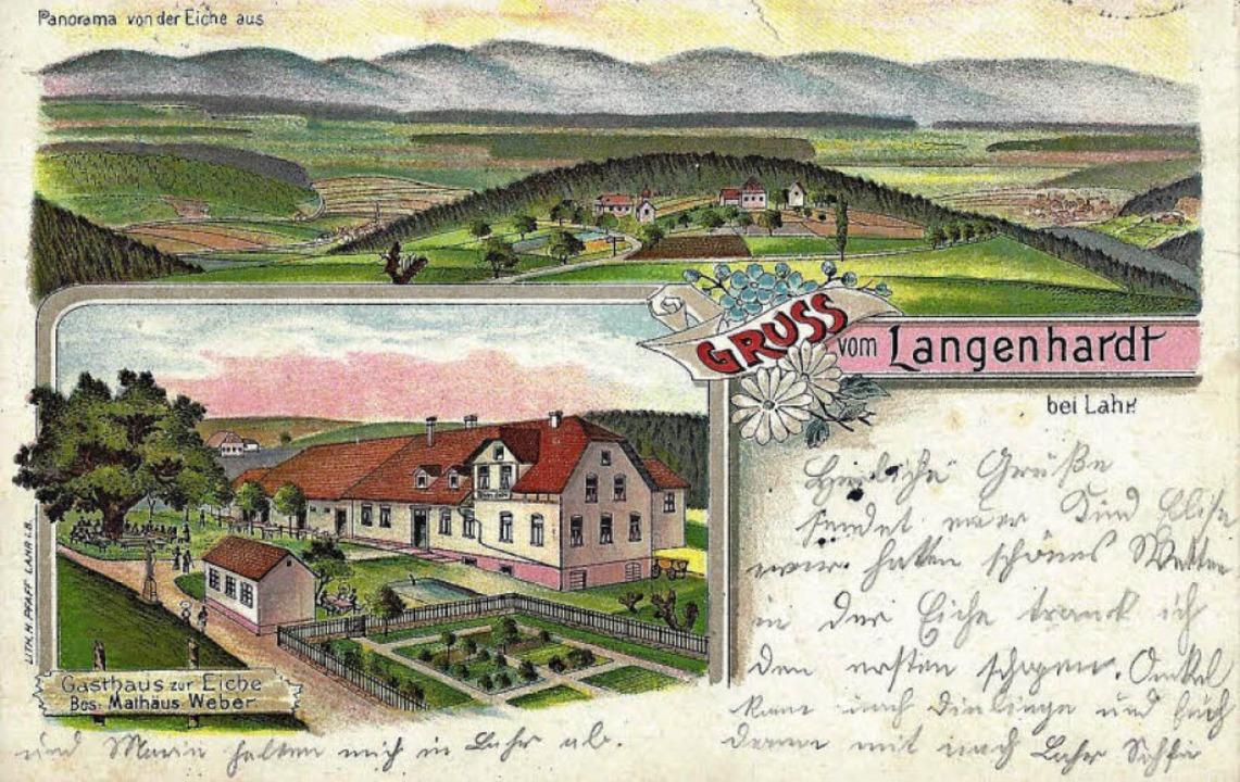 Gasthaus zur  Eiche 1904    Foto: Manfred Eble
