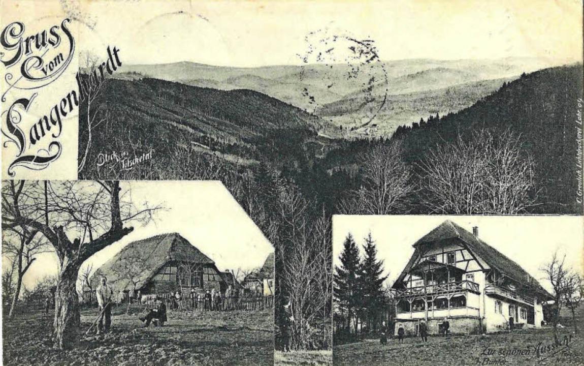 Der Langenhard  1910    Foto: Manfred Eble
