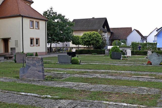 Der Friedhof wird demnächst umgestaltet