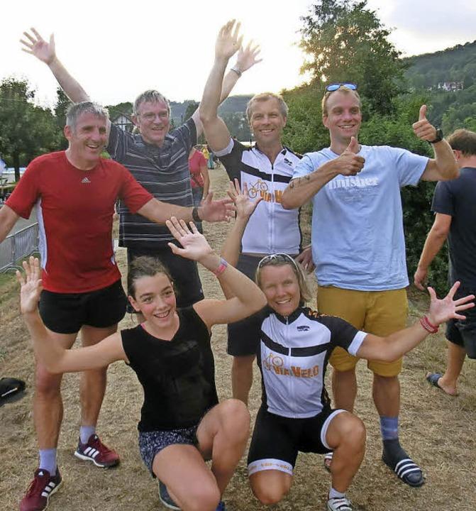 Laufen, schwimmen, Radfahren - darin s...e Nägele und Julia Polley sehr gut ab.    Foto: privat