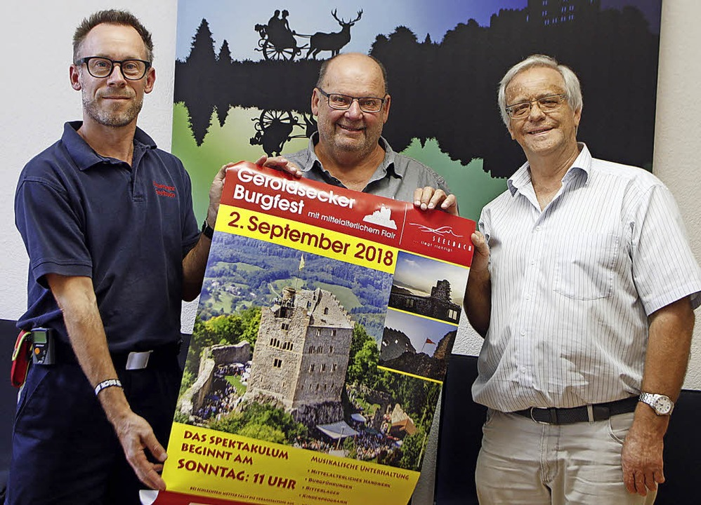 Die Organisatoren des Burgfests: (von ...ehr, Johannes Wagner und Manfred Uhl.     Foto: Heidi Fössel