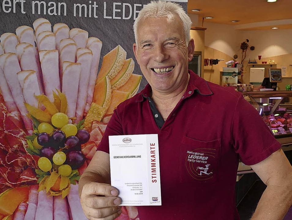 Joachim Lederer freut sich über seine neuen Aufgaben.    Foto: SENF