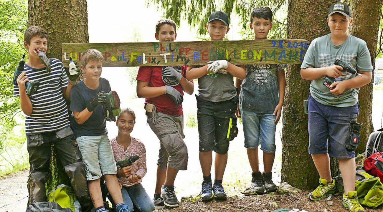 Acht Kinder und Jugendliche haben zwei...e neue Ideen entwickelt und umgesetzt.  | Foto: Privat