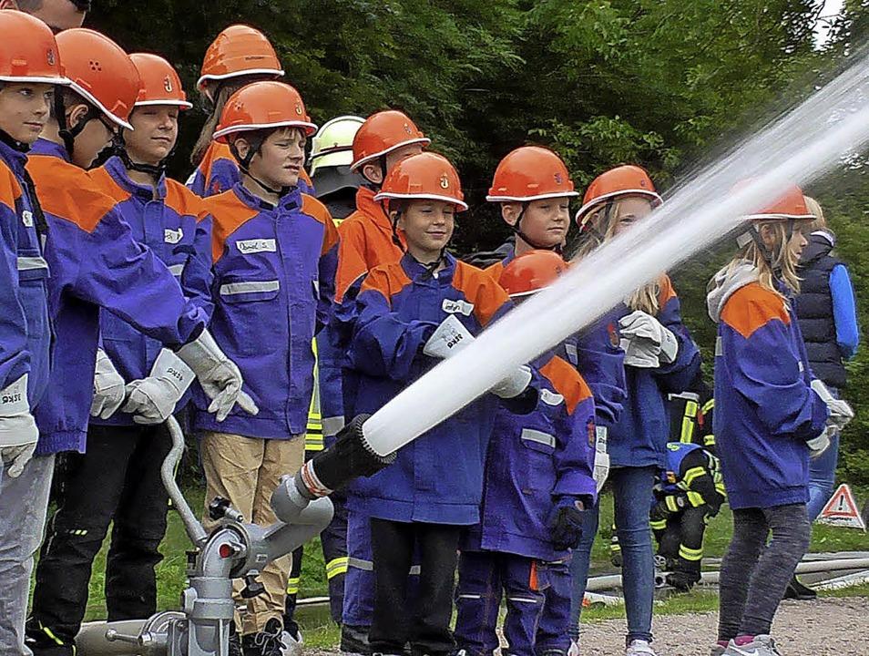 """""""Wasser marsch"""" hieß es fü...g bei der Feuerwehr zu Gast  warten.      Foto: Feuerwehr Murg"""