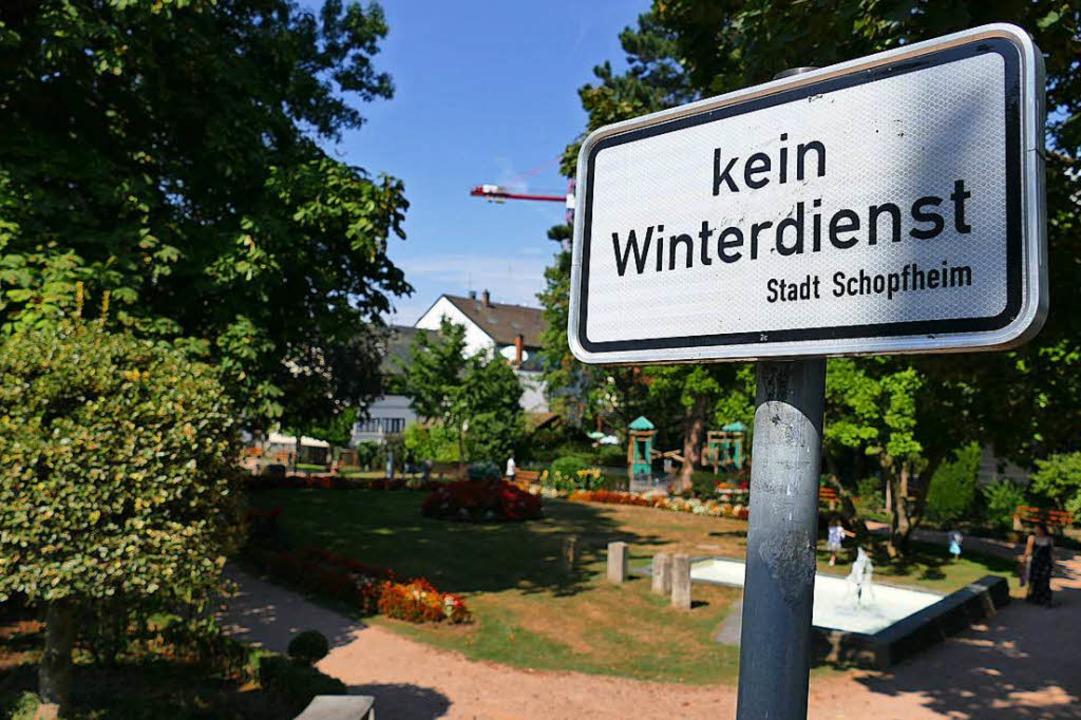 Ein klares Signal setzen will die Stad... einer Benutzungsordnung aufzustellen.  | Foto: André Hönig