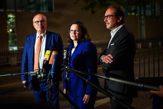 Die große Koalition will ein Signal setzen