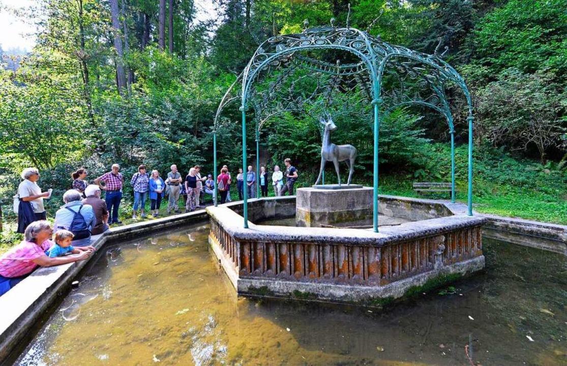 Das Wasser am Rehbrunnen ist noch mehr oder weniger sauber.  | Foto: Michael Bamberger