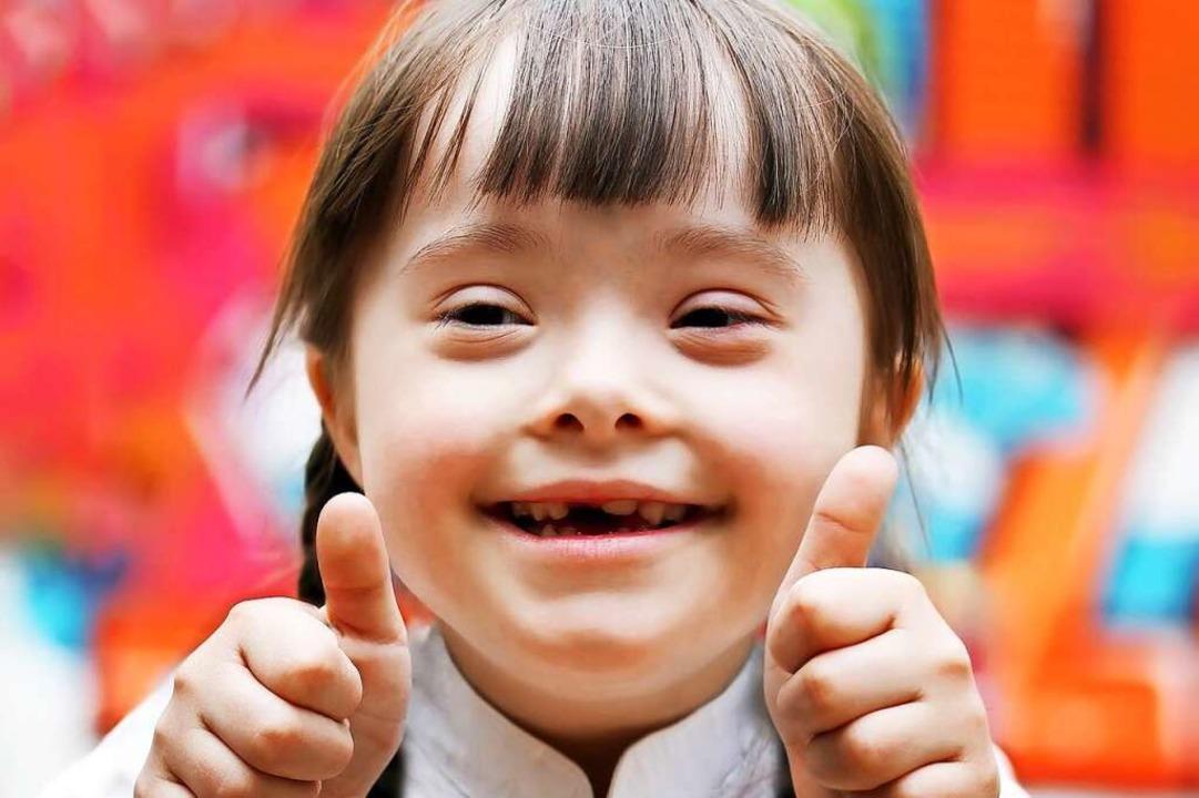 Ein Mädchen mit dem Down-Syndrom  | Foto: denys_kuvaiev - Fotolia