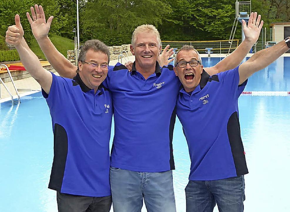 Das federführende Trio der Schwimmfreu...abst, Frank Pieper und Horst Neumann.   | Foto: Bernauer