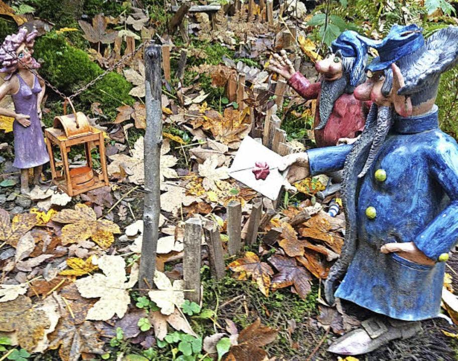 Der Wichtelpfad ist liebevoll mit Figuren dekoriert.   | Foto: Verena Wehrle