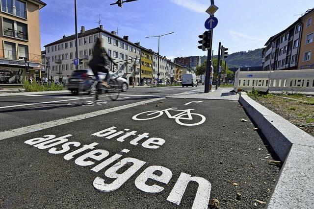 Für Radler ändert sich die Verkehrsführung vom Friedrichring in die Merianstraße