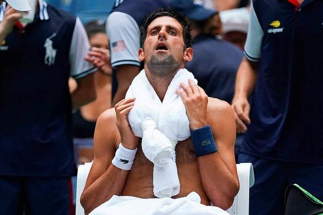 Tennisprofis leiden in der Gluthitze der US Open