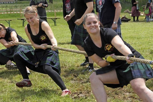 Fricktaler Highland Games finden am Wochenende, 1. und 2. September, in Wallbach/Schweiz statt.