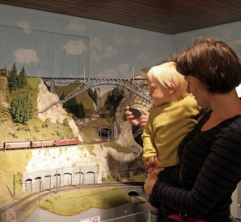 Im Modellbahnzentrum Schluchsee läuft ... detailgetreu gestalteten Bahnanlagen.  | Foto: Christa Maier