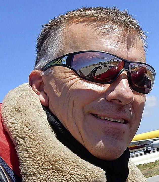 Burkhard Zach flog mit seinem Doppelde...illargues in der Nähe von Montpellier.  | Foto: Zach