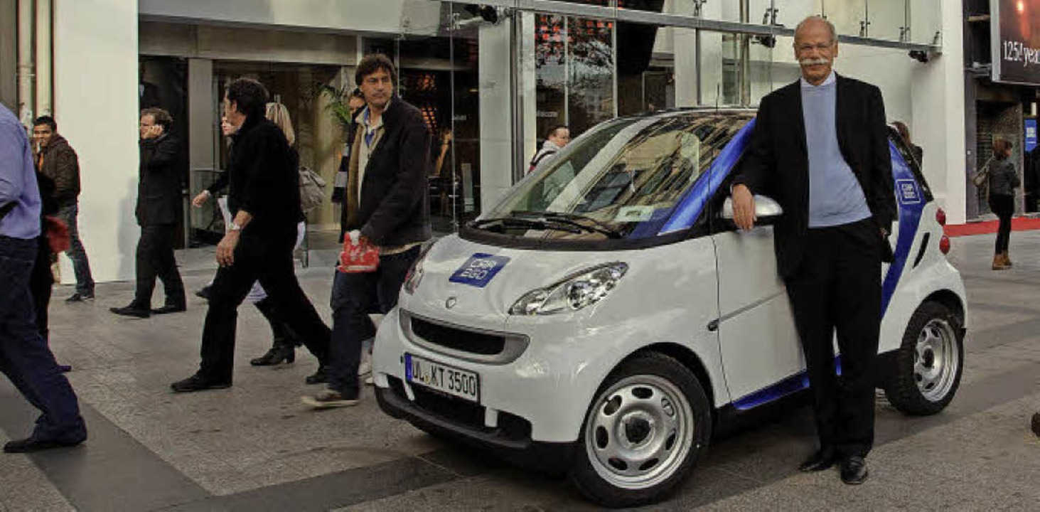 AGILES AUTOFrüh erkannte die Daimler A... gebaute Carsharingauto der Welt vor.     Foto: obs/ Daimler AG