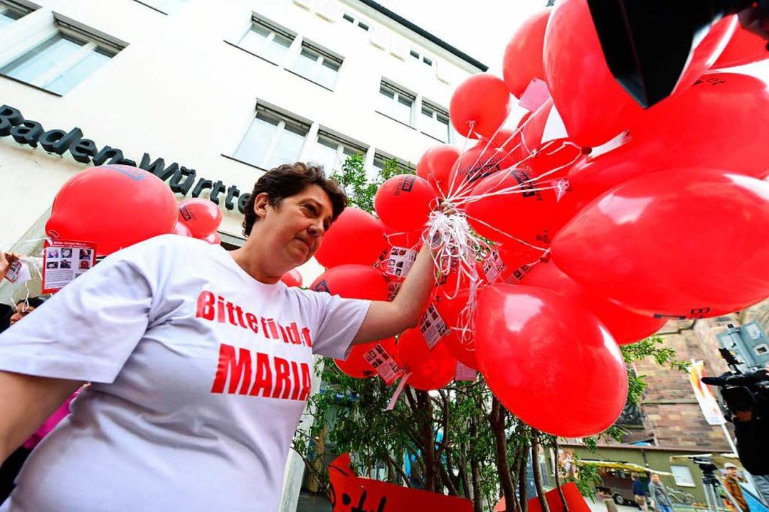 Marias Mutter Monika Beisler suchte fü...n nach dem Verschwinden ihrer Tochter.  | Foto: Ingo Schneider