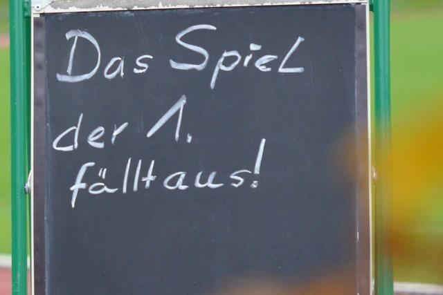 Spiel des TuS Lörrach-Stetten gegen FV Haltingen fällt aus