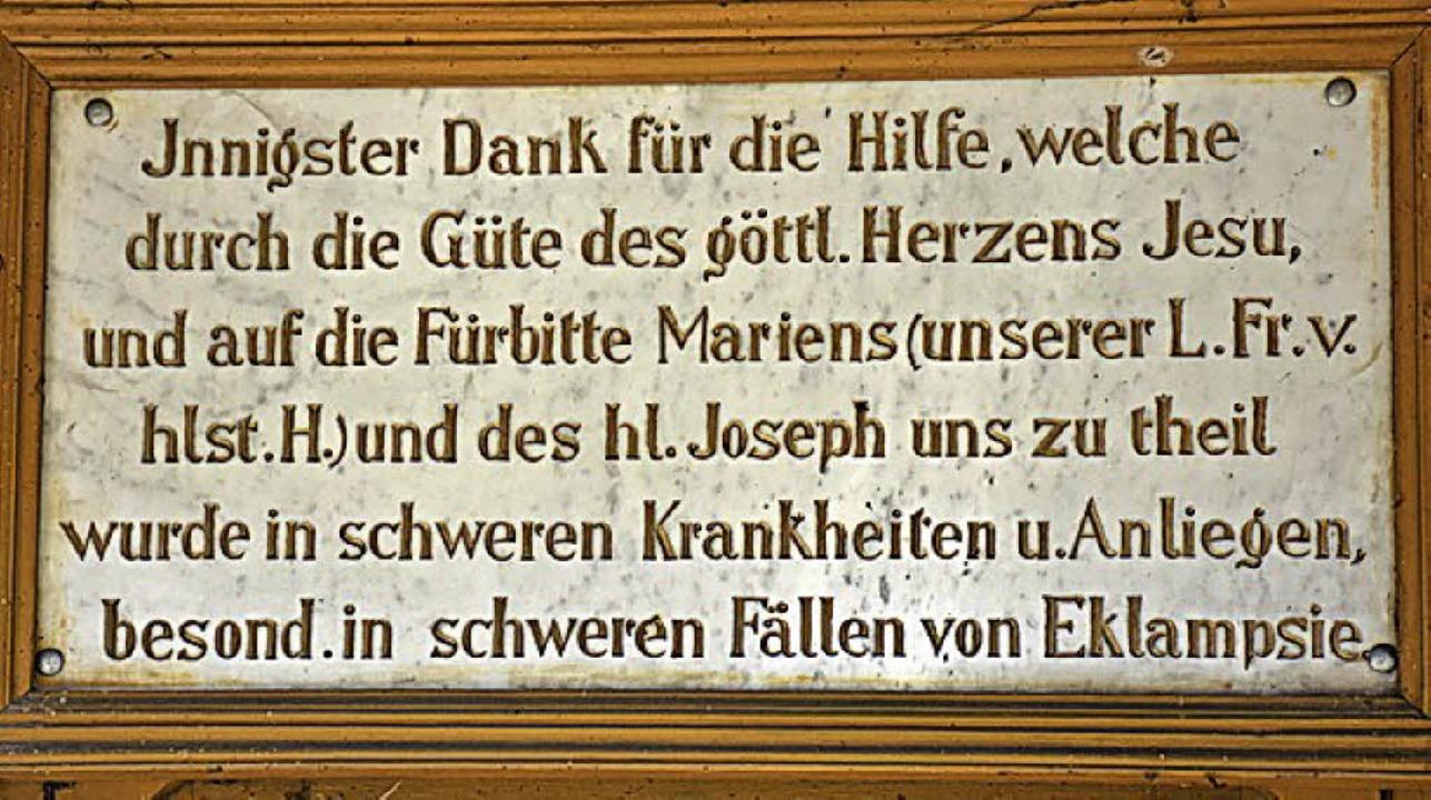 Inschrift über der Tür  | Foto: Thomas Biniossek