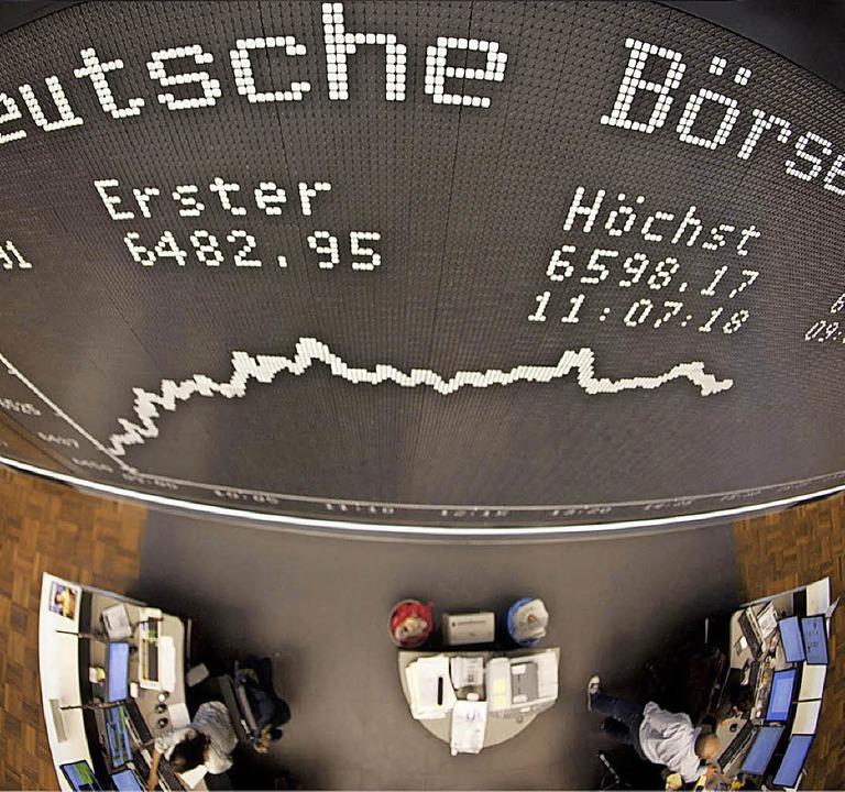 Die Börse vergrößert M- und S-Dax.   | Foto: dpa