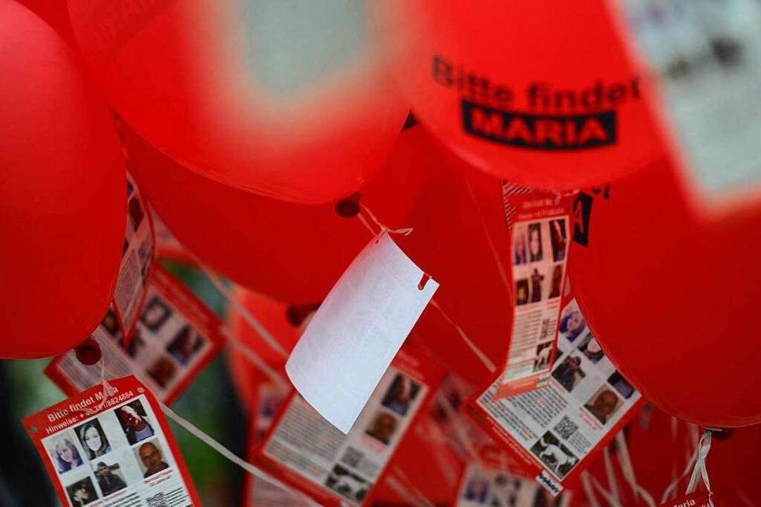 Als Maria 2013  verschwand, machte ihr...esen Ballons auf den Fall aufmerksam.   | Foto: Schneider