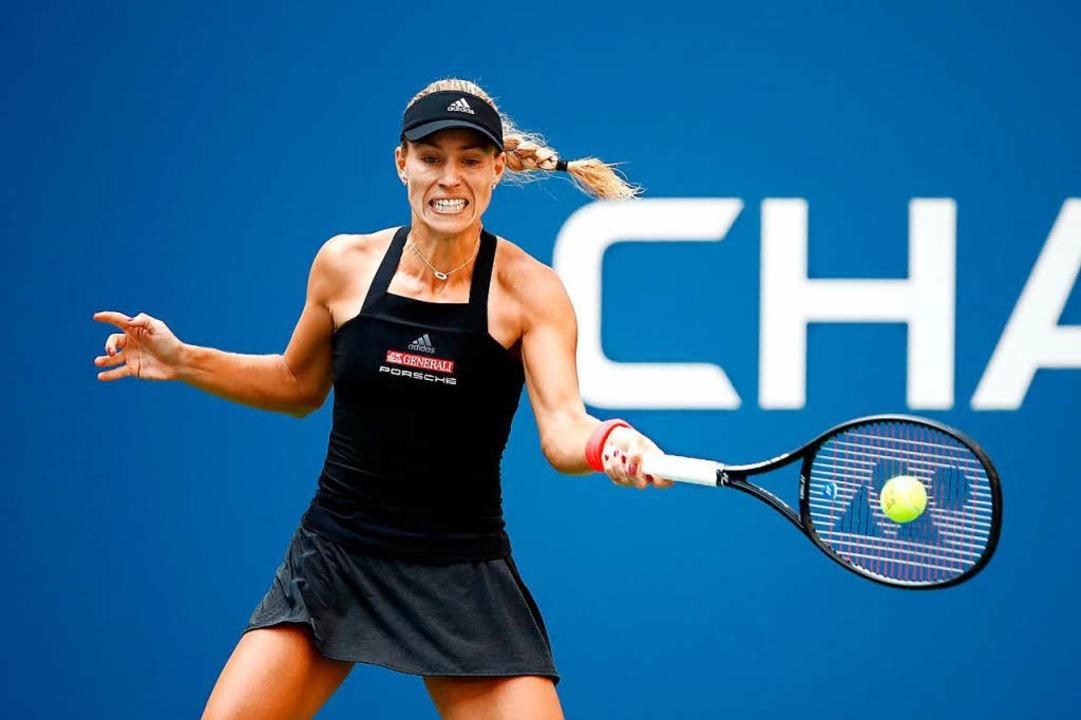 Ausgeschieden: Gegen die Slowakin Domi...n bei den US Open die Segel streichen.  | Foto: AFP