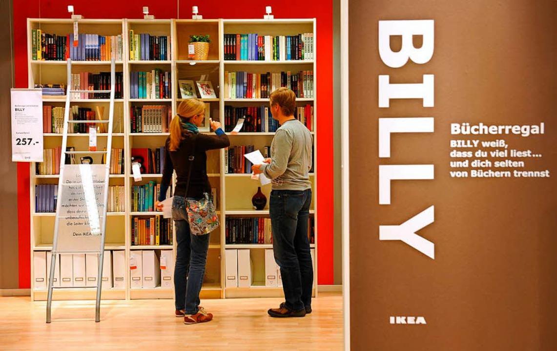 Ikeas Möbelklassiker Billy.  | Foto: Arne Dedert