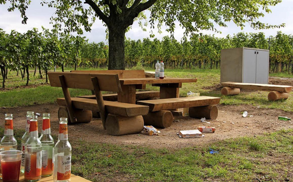 Sonntagvormittag nach der ersten Grillplatzparty in den Reben am Schilzberg.    Foto: Sabine Model