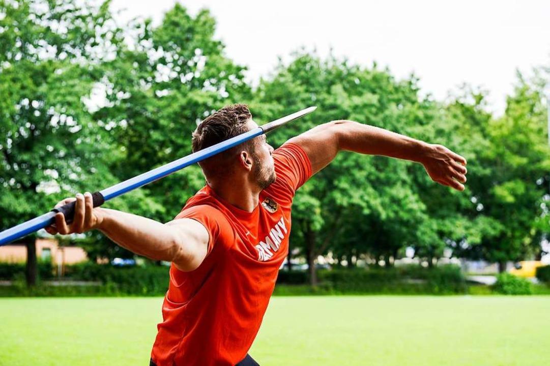 Weltmeister Johannes Vetter profitierte von der Spezialmaschine.  | Foto: Daniel Schoenen