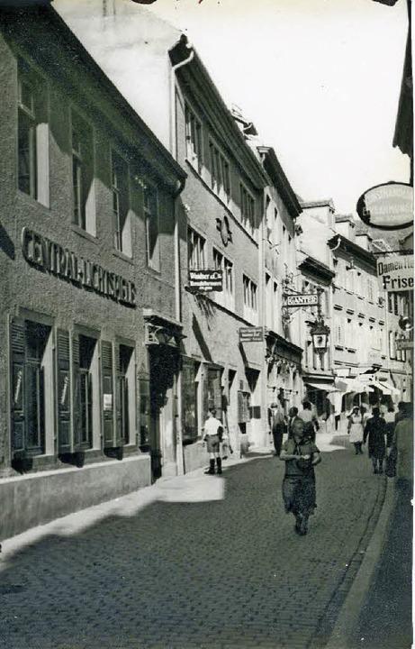 Die historische Aufnahme aus den 1930e...stige Gaststätte Ganterbräu erinnern.   | Foto: Stadtarchiv (M 70 S_201-27_Nr. 542_Schiffstrasse)/ Fritz Steger