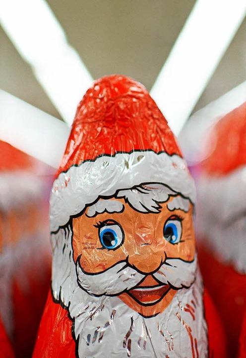Schoko-Weihnachtsmänner aus deutscher ... nach Australien oder Kanada verkauft.  | Foto: Bernd Thissen