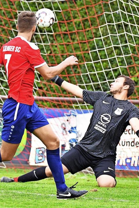 Torhüter Pascal Reiner und die SG Nord... der Bahlinger Lennart Bauer das 3:0.   | Foto: Achim Keller