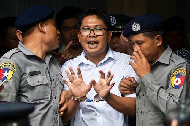 Sieben Jahre Haft für Reuters-Journalisten in Myanmar