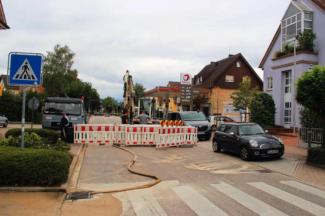 Am Sonntag und tagsüber am Montag blie... wegen der Reparaturarbeiten gesperrt.  | Foto: Horst David