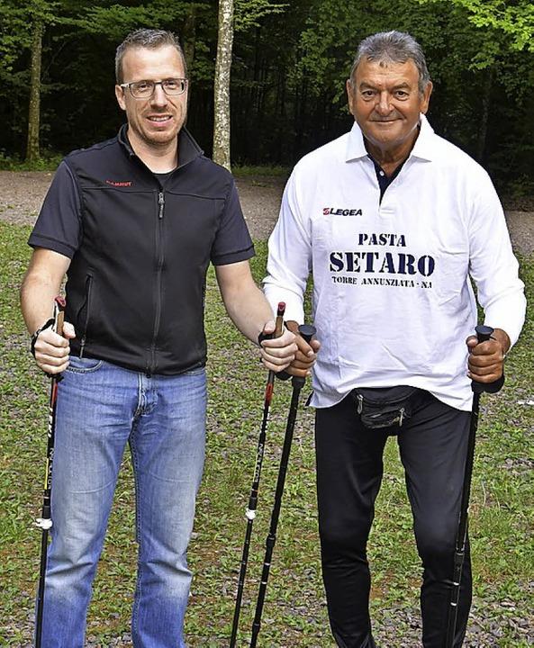 Frank Baumann (links), Oscar Guidone.   | Foto: Dieter Erggelet