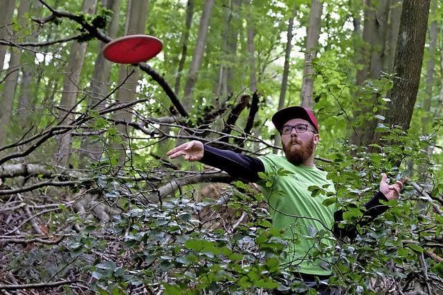 Fliegende Teller im Wald
