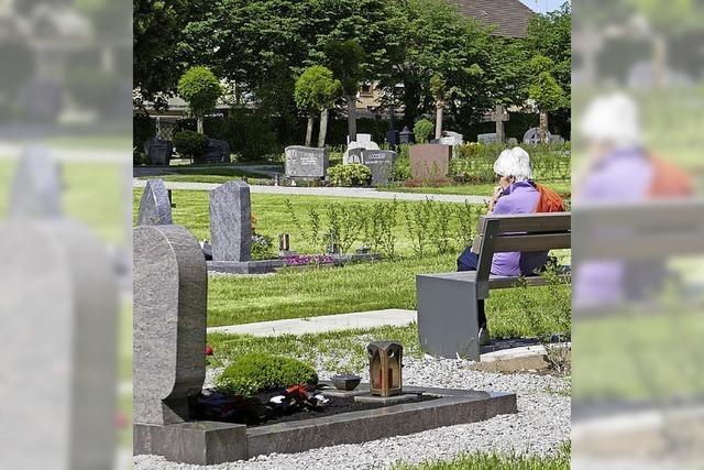 Neue Bauetappe auf dem Friedhof