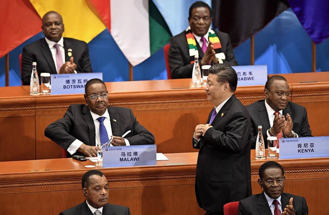 Kredite und Investitionen von insgesam...s China-Afrika-Gipfels in Peking zu.    | Foto: AFP