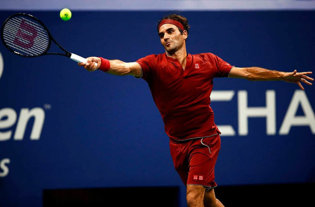 Roger Federer ist bei den US Open in N... als erster Titel-Favorit gescheitert.  | Foto: AFP