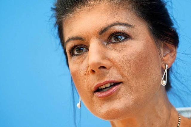 Wagenknecht ruft Linksregierung als Ziel ihrer Sammlungsbewegung aus