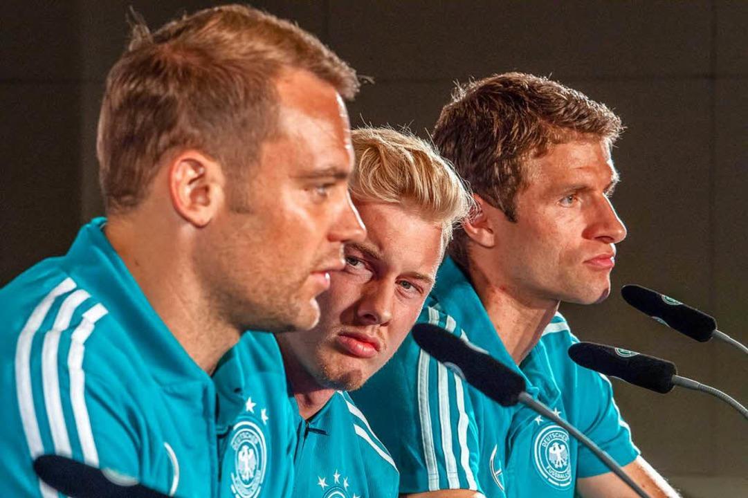"""""""Grundsätzlich verstehen wir uns...n Brandt und Thomas Müller (von links)    Foto: dpa"""