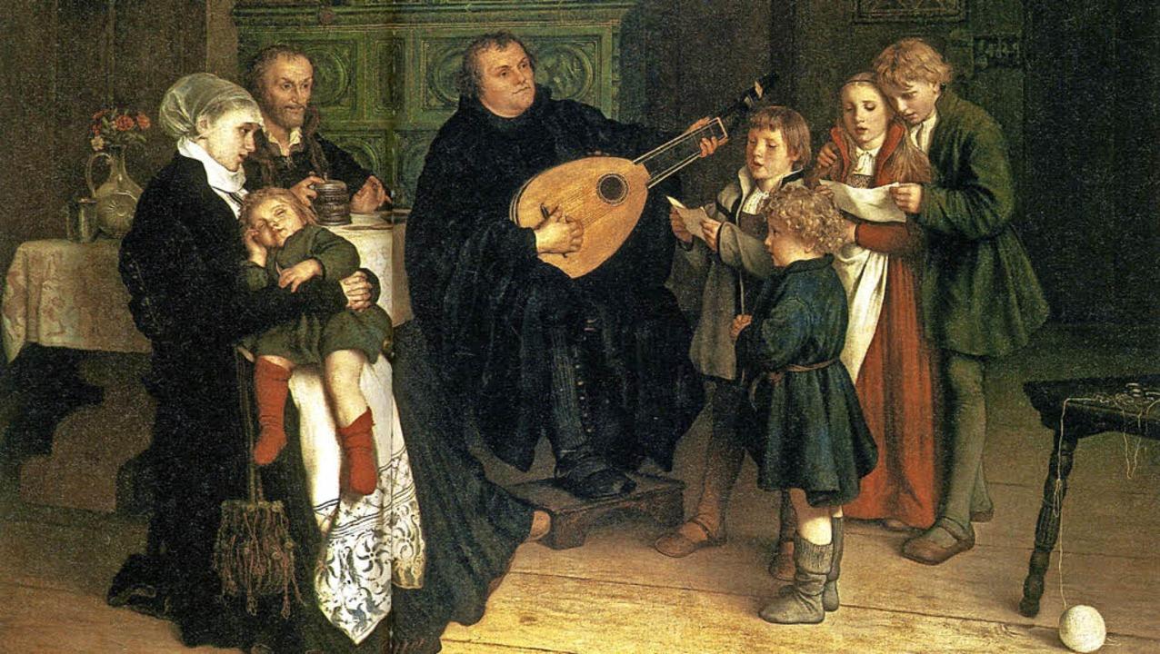 Aus der sogenannten Stammfamilie ging ... einem Gemälde von Gustav Spangenberg   | Foto: Wikimedia